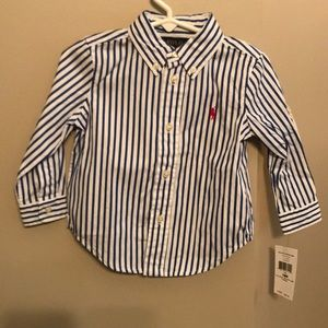NWT Boys Polo Ralph Lauren Blue/White 18 month